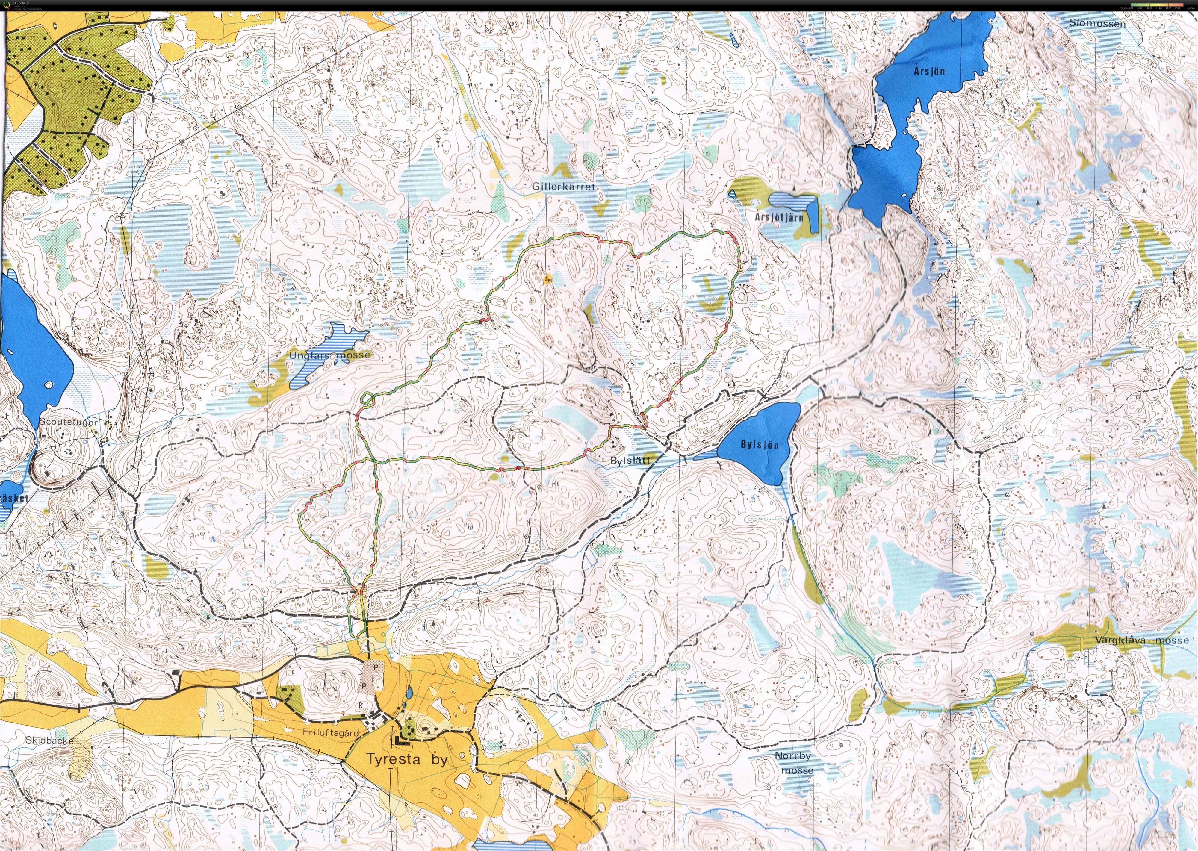 tyresta nationalpark karta Lasses digitala kartarkiv :: Tyresta nostalgi (2011 06 04) tyresta nationalpark karta
